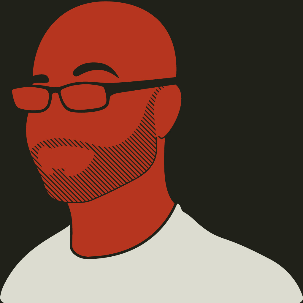 An illustration of Benjamin Allison, an art director, brand designer, graphic designer and illustrator working in Sonoma County, Napa Country, and the SF Bay Area.